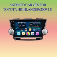Android 4.2.2 Car GPS Player for Toyota Highlander Touch Screen, BT, SWC,IPOD, RDS