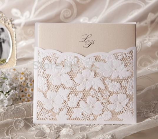 Floral Lace bolso cartão de convite da festa de casamento com envelope, aniversário do aniversário do noivado convites, 100PCS , frete grátis(China (Mainland))