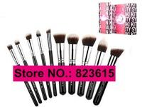 10pcs Synthetic Essential Kits F80, F82, F84, F86, F88, P80, P82, P84, P86, P88 Kabuki Makeup Brushes Sets with Retail Box