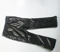 wholesale(5pcs/lot)-child girl lrs-04 winter black thicken leather rivet boots pants