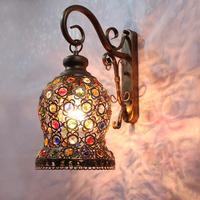 Indoor Lighting Fashion Rustic Decoration Wall Lamp Crystal Wall Lamp LED Bedside Wall Lamp Balcony Wrought Iron Wall Lamp