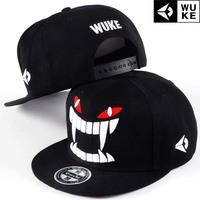 Big teeth Hip-hop hat, baseball cap / tide flat brimmed hat men and women skateboard / Korean version of the hat.