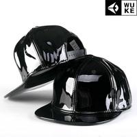 PU cortex Hip-hop hat, baseball cap / tide flat brimmed hat men and women skateboard / Korean version of the hat.