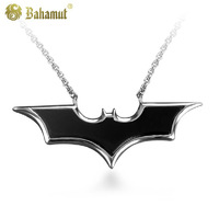 Bahamut 925 silver jewelry The Dark Knight Batman Pendant Men's Necklace Free shipping