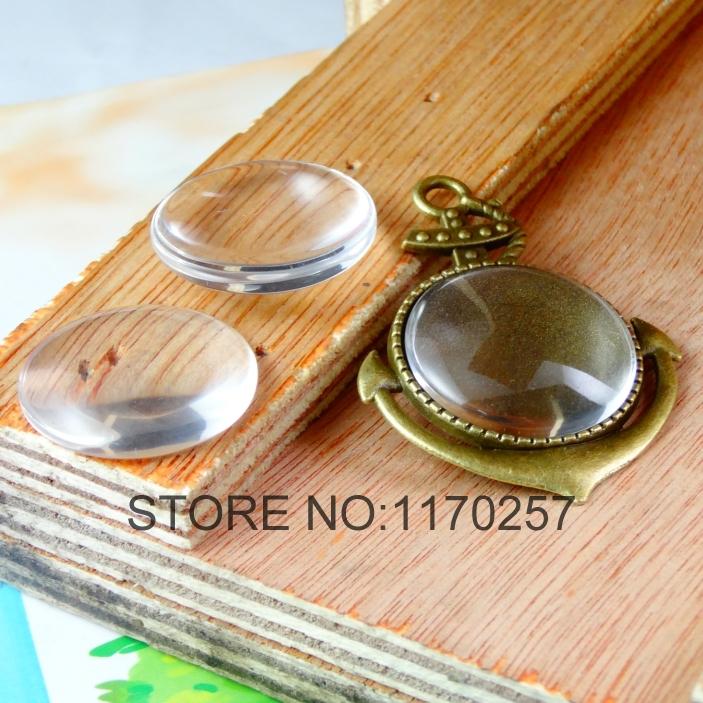 50 pz/lotto 25 mm di vetro rotondo chiaro cupola perle cabochon a1903