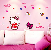 New Hello Kitty children's bedrooms wall stickers car stickers Kid Room Decor/Cartoon Home Bedroom Wall decor home decoration