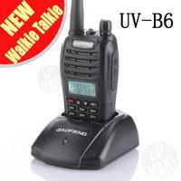 FS!BaoFeng UV-B6 UVB6  Walkie Talkie Transceiver Dual Band Two Way Radio 136-174Mhz&400-520Mhz Earphone Free  1pcs/lot
