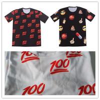 Plus Size S-6XL Big Yards 2014 Summer Man New Fashion Hot Sale Tops Brand Emoji 100 Printed T Shirt Sport T-Shirt Tops Camisetas