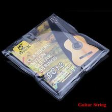 Sc12 гитара шесть струн нейлон серебро позолоченное комплект супер лёгкие для акустическая гитара 6 шт. / комплект(China (Mainland))