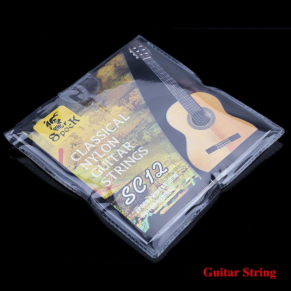 SC12 Guitar Six Strings Nylon Silver Plating Set Super Light for Acoustic Classic Guitar 6pcs/set(China (Mainland))