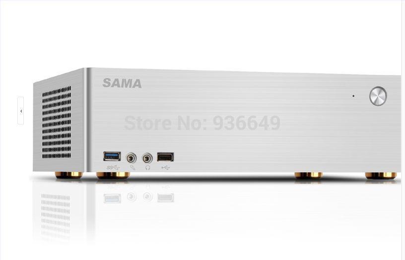 Silver Sama xianmamagic cube computer case aluminum for mini computer case itx 3.0usb No power(China (Mainland))