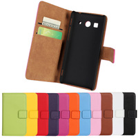 2015 New Vertical Flip Genuine Leather Case For Huawei Ascend G520 G525 Phone Cases with 11 Colors