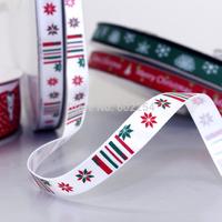 Hot Wholesale!! Free Shipping 9MM Christmas Ribbon Merry Christmas Scrapbooking Decorations Satin Wedding Craft Xmas Ornaments