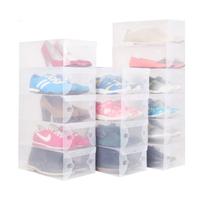 5pcs/lot Transparent Clear Shoe Boxes Clear Plastic PP Storage Box Packaging Boxes For Shoes For Women Caixa De Sapato DGSNH0001