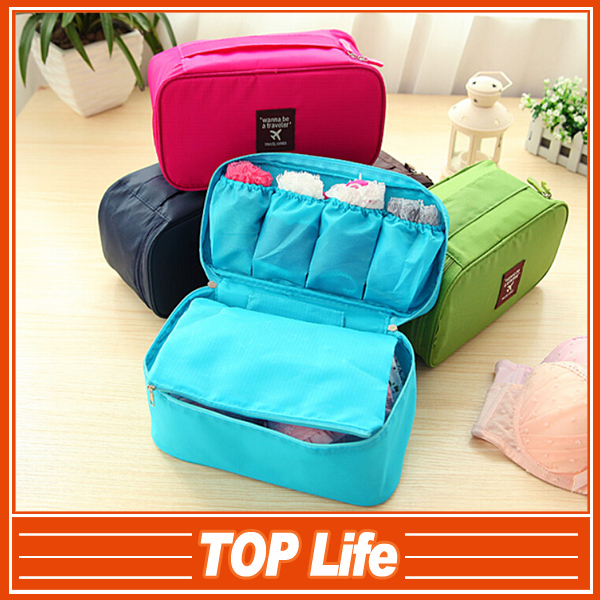 Free ship and new Travel multi-function The bra package, Underwear package, Portable toiletry bags, Cosmetic bag(China (Mainland))