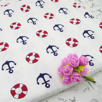white navy style 100% Cotton Twill Cloth  Patchwork Quilting fabric textile for sewing children bedding 160*100cm