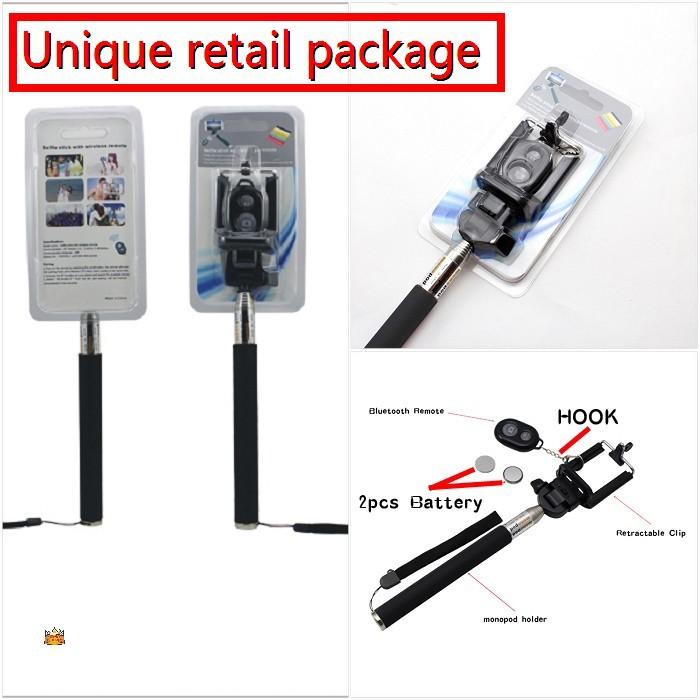 100set lot extra battery for bluetooth remote extendable selfie stick monopod. Black Bedroom Furniture Sets. Home Design Ideas