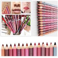 12 PCS Hot Sale New Fashion women Girl Lady  Professional Lipliner Waterproof Lip Liner Pencil 15CM