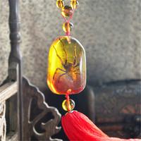 2014 Auto interior ornaments insect amber pendants car premium pendants car ornaments free shipping