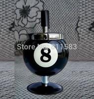 2014 New Boyfriend Gift Smokeless Metal Spin Billiard Ball Snooker Floor Smoking Ashtray Cigarette Ash Tray Stand J108