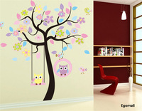 Newest Popular Top quality Plant Wall Sticker adesivo de parede Home Decor wall Strickers Kids Home Decoration free shipping