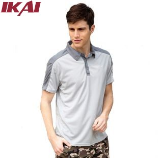 IKAI New Summer Short Sleeve Breathable Men Hiking T Shirts Brand Design Men'S Casual T Shirts Quick Dry Outdoor Tees HMD0025-5(China (Mainland))