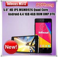 Original Foxconn Infocus M512 4G FDD LTE Android Mobile Cell Phone 5 Inch HD IPS MSM8926 Quad Core 1GB RAM 4GB ROM NFC