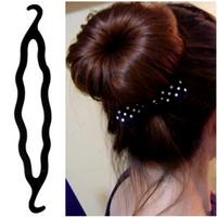 3pcs New Wholesale Lot Magic Bun Hair Twist Braid Tool Styling Clip Care Easy Hair Accessories Free Ship DGFS2005