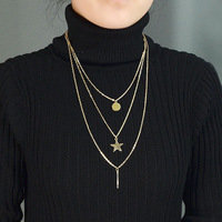 Colares Femininos Punk Style 2014 Fashion Jewelry Alloy Multilayer Necklaces For Women
