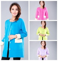 Brand New Women Long Coat Mink Cashmere Luxury Outwear Winter Knitted Coat Female Cardigans Top Quality M LXL