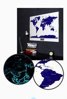 1 Piece Topdot Fluorescent Starlight Scratch World MAP,Starry Night Travel Scratch Map 105.6*75cm