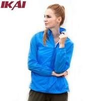 IKAI Women Outdoor Waterproof Jacket Brand Fashion Women'S Hiking Climbing Coat Anti Uv Windbreaker Women'S Jacket HMD0024-5
