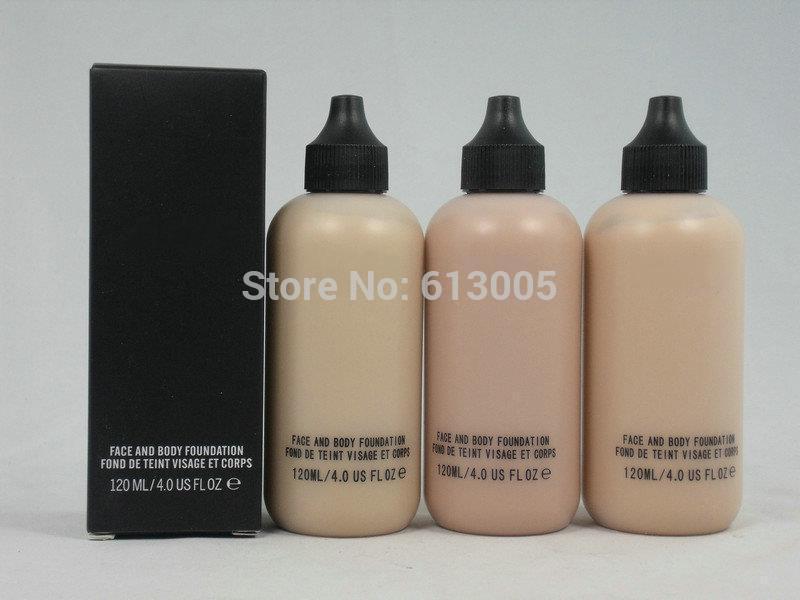1PCS Makeup Face And Body Foundation Fond De Teint 120ml(NC15,NC20,NC25,NC30,NC35,NC40)Free Shipping(China (Mainland))
