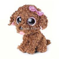 New TY Plush Animals Beanie Boos Kawaii Brown Teddy Dog Plush Toys 6'' 15cm Ty Big Eyes Soft Toys for Kids Toys for Girls