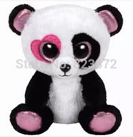 TY Plush Animals Beanie Boos Love Panda Plush Toys 6'' 15cm Ty Big Eyes Stuffed Panda Bear Kids Toys for Children Girls Gifts