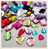 Mix Color Mixed size mixed shape 100pcs Mixed 30 style acrylic crystal flatback rhinestones stones for garments rhinestone diy