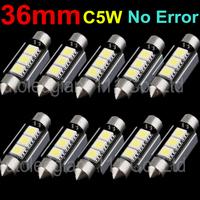 10pcs Cool White CANBUS Error Free 36mm C5W Festoon 3SMD DE3423 6418 12v Car Interior Bulb License Plate Light For Audi BMW Benz