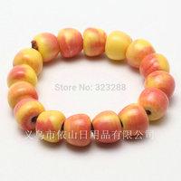 Free Shipping 2015 New Trend Jewelry Apple Shape Ceramic Bracelet Lucky Bracelet DIY Ceramic Jewelry Beads