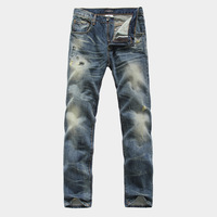 free shipping 2pcs/lot fashion men high quality brand designer modern hot pants jeans ripped jeans for men