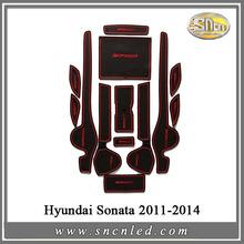 Non-slip Interior Door Pad Cup Mat Door Gate Slot Mat For Hyundai Sonata 2011-2014, 13pcs/lot, Auto Accessories(China (Mainland))