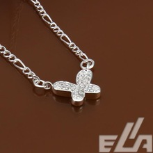 925 silver plated foot chain pulseras pie sexy leg bracelet crystal butterfly jewelry for shoes slave anklet