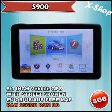 X-SHOP S900 gps navigator 5 inch+SIRF5+128MB SDRAM,vehicle gps,Touch Screen, Mp3/Mp4, Photo Viewer, Radio Tuner