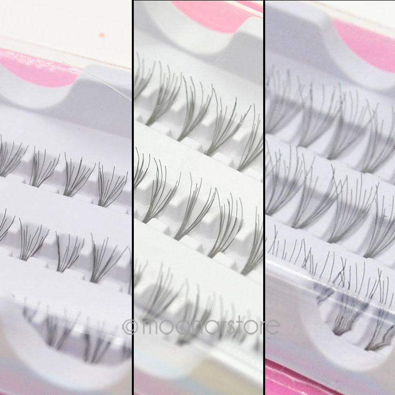 60pcs Individual Lashes Semi-Hand Made Black False Eyelash Natural Long Cluster Extension Set Makeup 8/10/12mm zx*MHM048C#C9(China (Mainland))