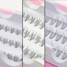 60pcs Individual Lashes Semi-Hand Made Black False Eyelash Natural Long Cluster Extension Set Makeup 8/10/12mm Y70*MHM048#M5
