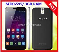 ZOPO ZP999 3X black MTK6595 Octa Core smart phone CPU 2.0ghz, 5.5'' IPS screen 1920x1080,3GB RAM 16G/32G ROM,Dual SIM,OTG,NFC.4G