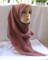wholesale solid 46 colors 110*110 cm Voile traditional Muslim scarf hijab scarf 2015 new scarf  women apparel accessories