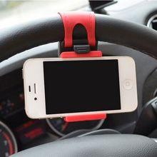 Car Steering Wheel Universal Mount Holder Bike Clip For iPhone Mobile Phone GPS Holders Support Smartphone Navigation