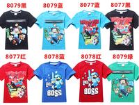 Wholesale Fashion Kid T Shirts world T-Shirt Boys Clothes Short Sleeve Casual T Shirts Children Clothes