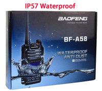 IP57 Waterproof  Walkie Talkie,Dustproof  Two Way Radio,Baofeng BF-A58,5W Dual Band Radio Emergency SOS , 2-way dual band radio