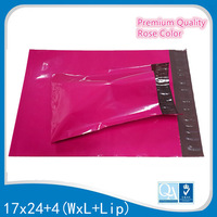 Newest Arrival 17x28cm Colored Rose Post mailers Plastic Shipping Mailers Self Seal Envelopes Poly Mailing Bags Poly mailer